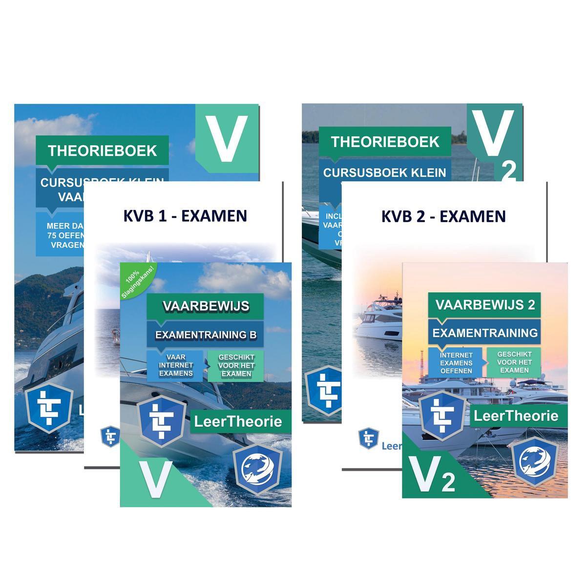 Vaarbewijs Theorieboek KVB 1 en 2   Pleziervaartbewijs + Online Examens Vaarbewijs Theorie Oefenen +