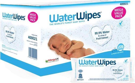 WaterWipes 12x 60 babydoekjes (720 billendoekjes)