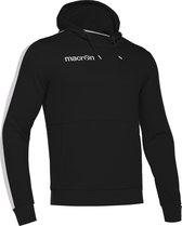 Macron Ska Hoodie - Unisex - Zwart/Wit - Maat S