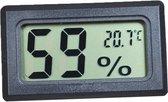 Trendfield Hygrometer en Thermometer 2 in 1 - Luchtvochtigheidsmeter voor Binnen en Buiten - Zwart