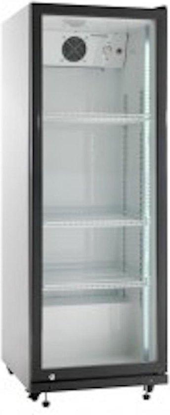 Koelkast: Glasdeur koelkast, Horeca Drank Koelkast, met glasdeur 202 liter wit/zwart, van het merk Bootsma S-C