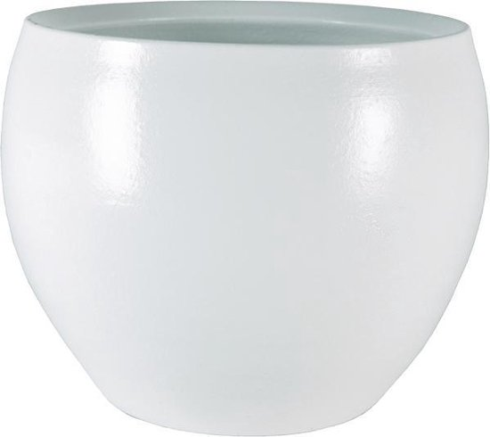 Pot cresta pure white bloempot binnen 17 cm