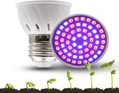 E27 LED Groeilamp voor kwekers - 5w groeilamp - Kweeklamp - 5 watt - E27 fitting - grow light - kweektunnel - bloeilamp - UV lamp - groeilicht - ontkiemen - planten groeien