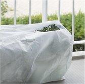 6x Plantenhoes balkonbak met rits wit H35 x 85 x 25 cm 70 g/m2 - Winterafdekhoes - Winterhoes voor planten - Anti-vorst beschermhoes planten - Vorstbescherming - Windbescherming
