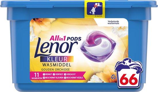 Lenor All In 1 Pods Gouden Orchidee Wasmiddel - Voordeelverpakking 66 Wasbeurten - Wasmiddel Pods