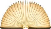 Boek Lamp - Veloci - Book Lamp - Groot Formaat - Boeklamp - Sfeerverlichting - Oplaadbare Lamp - Buitenlamp - Leeslamp - Tafellamp - Leeslamp - Decoratielamp - Vijf Kleuren - Oplaadbaar - Nachtlamp