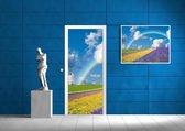 Deursticker Muursticker Natuur, Regenboog   Blauw   91x211cm