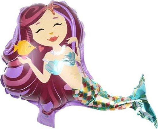 Zeemeermin Feest - Folieballon Mermaid - Mermaid Versiering - Zeemeermin Folieballon