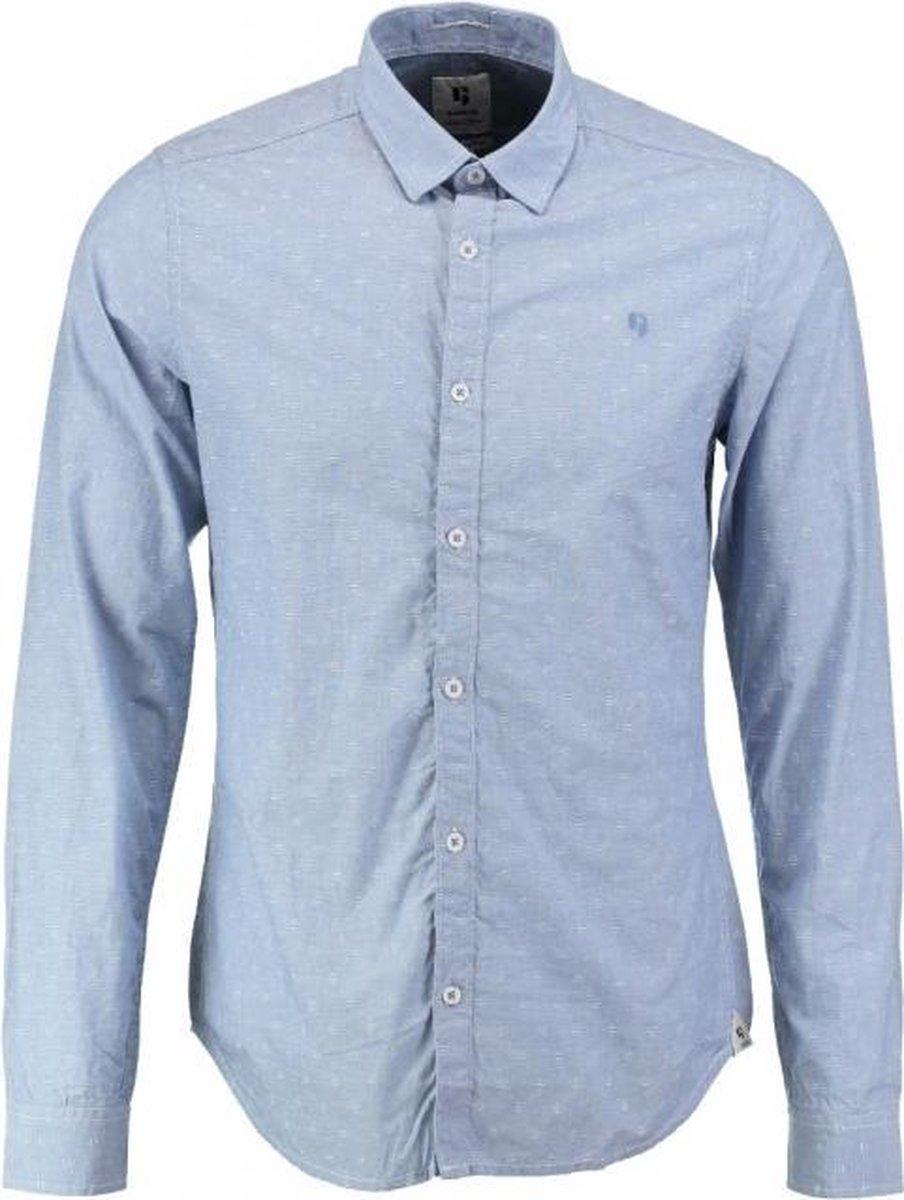 Garcia lichtblauw fine cotton slim fit overhemd - Maat S