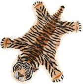 LIFETASTIC® Vloerkleed Tijger - Polyester - Oranje/Bruin - Antislip