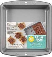 Wilton Recipe Right® Vierkante Bakvorm  - 20 x 20cm - Aluminium