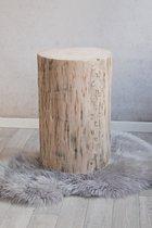 Boomstam tafel 50 cm hoog zonder wieltjes