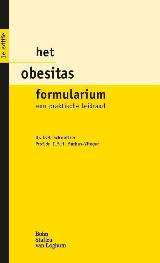 Het Obesitas Formularium - Dave Schweitzer | Fthsonline.com