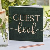 Botanical Wedding - Gastenboek Green Velvet