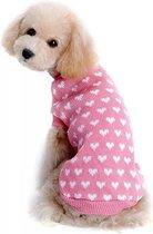 Hondentrui 'LOVE' - hartjes - valentijn - liefde - schattig - valentine - valentijnstrui - roze - rose - pink - hondenmode - hondenkleding - hondenstrik - dogfashion -
