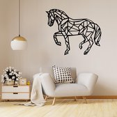 Origami muursticker paard - Zwart | Muurstickers woonkamer | Stickers muur | Woonkamersticker muur | Decoratie | Kamer decoratie | Wand sticker