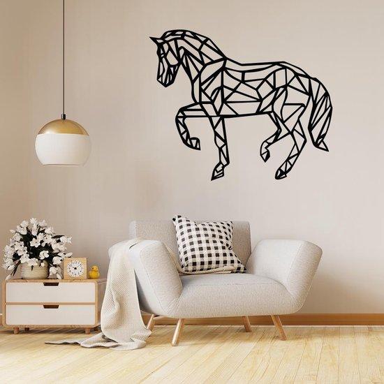 Bol Com Origami Muursticker Paard Zwart Muurstickers Woonkamer Stickers Muur
