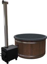 Welltub Hottub 180cm - 45kW houtkachel van aluminium - 5 tot 6 persoons - in slechts 2uur warm
