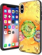 IYUPP iPhone X / XS Hoesje Bohemian Festival Geel x Oranje