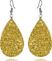 oorbellen dames   oorhangers dames   oorbellen glitter geel   cadeau voor vrouw