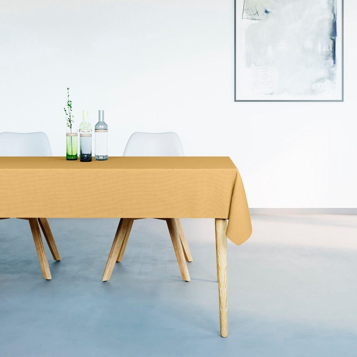 Mistral Home - Tafelkleed waterafstotend - 150x250 cm - Mosterd Geel - Mistral Home