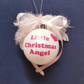 Kerstbal Little Christmas Angel Roze | Kraamcadeau | Kraampakket | Baby Cadeau