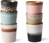 HKliving - Ceramic 70's - Mokken - 180 ml - set van 6