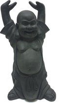 Boeddha beeld Hotei Boeddhabeeld 40 cm Donkergrijs| GerichteKeuze