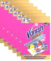 Vanish Gold Kleurbeschermer Doekjes Vlekkenverwijderaar - 6 X 16st