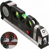 Laserwaterpas - 3 Verschillende Lasers - Kruislijnlaser- (Laser Bereik 3 Meter) -  Verticale + Horizontale Laser – Inclusief Rolmaat 2,50 cm - Inclusief Extra Batterijen – Klussen