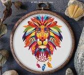 Borduurpakket mandala Dreamcatcher Lion