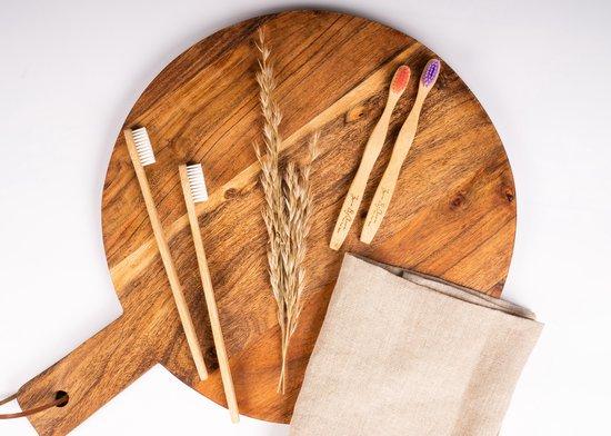 Bamboe Tandenborstel By Olive 4 St. Genummerd 100% Moso Bamboo