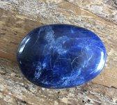 Dumortieriet edelstenen amulet 2,5 x 3 cm blauw werking positiviteit