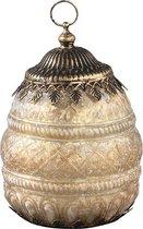 PTMD - Carys Glass Antique Mat Gold Led Lantern Bulb - 12 x 19 cm