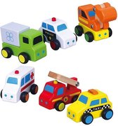 Viga Toys - Mini Voertuigen - Set - 6 stuks