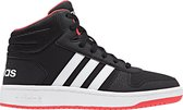adidas Hoops Mid 2.0 K Kinderen Sneakers - Core Black/Ftwr White/Hi-Res Red S18 - Maat 6 39.5