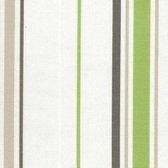 Acrisol Minerva Pistacho 1205 gestreept wit groen grijs  stof per meter buitenstoffen, tuinkussens, palletkussens