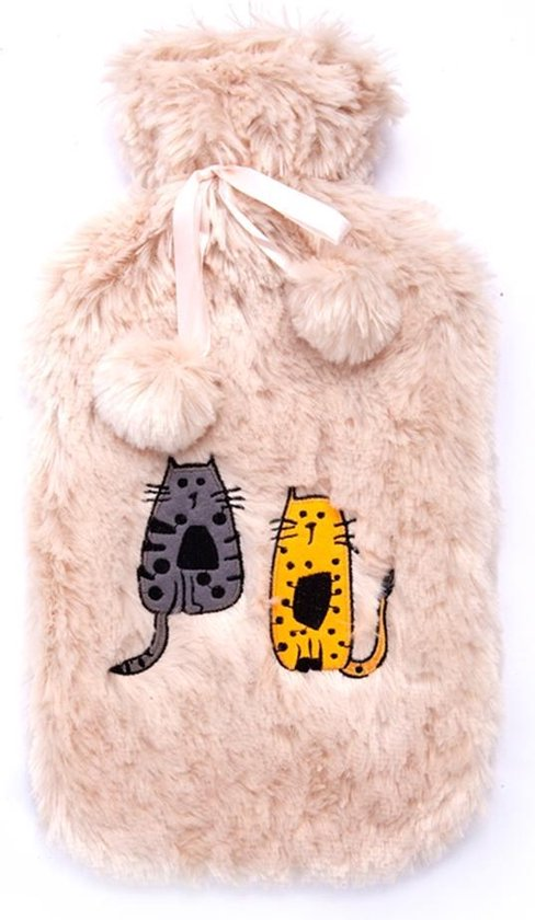 Kruik - Biggdesign Cats - Warmwaterkruik - Warmwater Kruik met Hoes