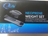 Q4Life Neopreen gewichtenset enkels en polsen