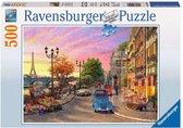 Ravensburger puzzel Avondsfeer in Parijs - Legpuzzel - 500 stukjes
