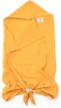 KipKep Blenker hydrofiele badcape - maat 100x70cm - Little Bees geel