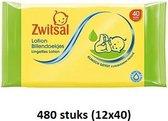 Zwitsal Baby Billendoekjes Lotion 12x40 doekjes Voordeelverpakking