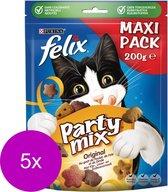 FELIX Party Mix Original Mix Kattensnack - 5 x 200 g