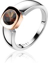 ZINZI zilveren ring rosé verguld bruin ZIR1150E