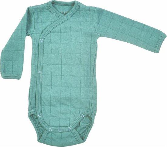 Lodger Baby Romper Lange Mouw Solid -  Groen -  80