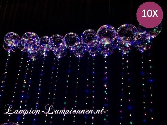 Lampion-Lampionnen LED Ballon XL verlichte ballon 40 cm - 10 stuks
