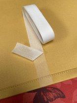 Strijkband - Gordijnband - 10 Meter - Voor Inkorten - 2,5 cm breed - met schutpapier - Wit