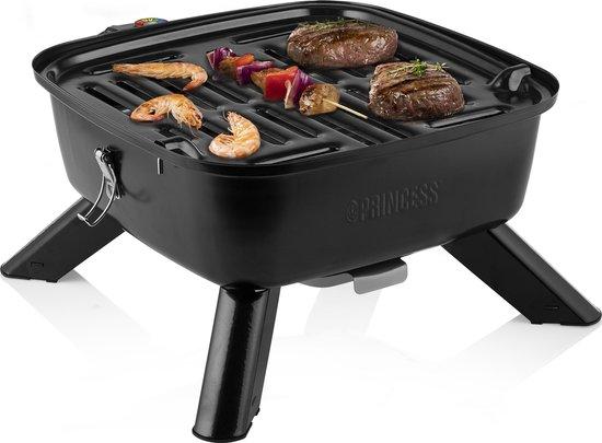 Princess 112256 Hybrid Barbecue – 2-in-1 Elektrisch of met kolen – Inclusief deksel