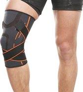 Boersport ® | Ultra elastische kniebrace | Optimale ondersteuning | Dames & Heren| XL