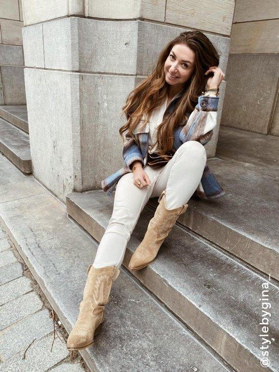 Sacha Dames Taupe suède cowboylaarzen Maat 40